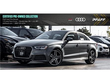 2018 Audi A3 2.0T Technik (Stk: C7169) in Woodbridge - Image 1 of 22