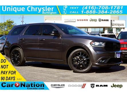 2016 Dodge Durango R/T| 5.7HEMI| BLACKTOP PKG| NAV| NAPPA LEATHER (Stk: K1259A) in Burlington - Image 1 of 50