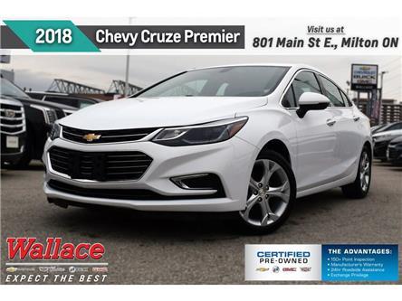2018 Chevrolet Cruze PREMIER/HTD SEATS/HTD WHEEL/CARPLAY/REAR CAMRA/17s (Stk: PR5126) in Milton - Image 1 of 18