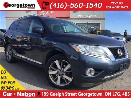 2015 Nissan Pathfinder PLATINUM | 4WD|LEATHER|NAVI|ROOF|CLEAN CARFAX (Stk: SG19024A) in Georgetown - Image 1 of 30