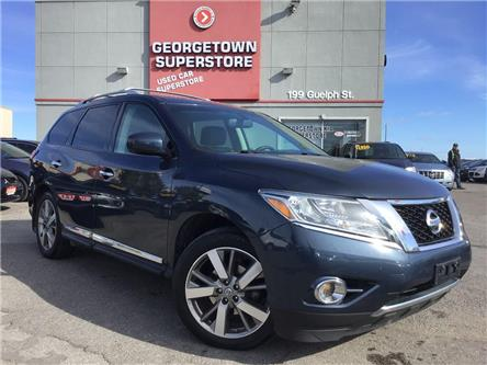 2015 Nissan Pathfinder PLATINUM | 4WD|LEATHER|NAVI|ROOF|CLEAN CARFAX (Stk: SG19024A) in Georgetown - Image 2 of 30
