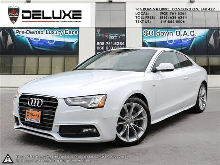 2016 Audi A5 2.0T Komfort plus (Stk: D0664) in Concord - Image 1 of 16