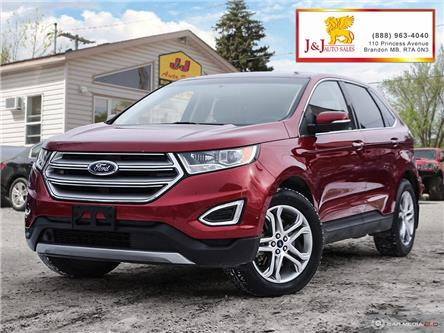 2017 Ford Edge Titanium (Stk: J19106) in Brandon - Image 1 of 27
