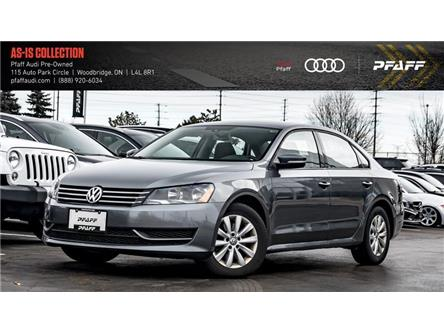 2013 Volkswagen Passat 2.5L Comfortline (Stk: T16900AA) in Woodbridge - Image 1 of 20