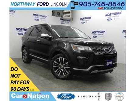 2018 Ford Explorer Platinum | AWD | NAV | LEATHER | 3 ROW | PANOROOF (Stk: P5221) in Brantford - Image 1 of 38