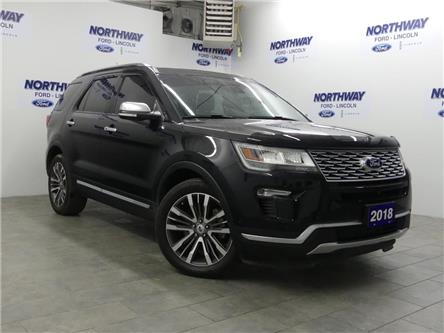 2018 Ford Explorer Platinum | AWD | NAV | LEATHER | 3 ROW | PANOROOF (Stk: P5221) in Brantford - Image 2 of 38