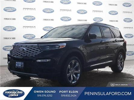 2020 Ford Explorer Platinum (Stk: 20EX10) in Owen Sound - Image 1 of 25
