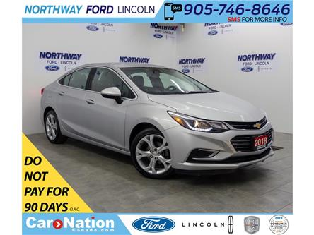 2018 Chevrolet Cruze Premier | LEATHER | HTD SEATS+WHEEL | PUSH START | (Stk: DR545) in Brantford - Image 1 of 35