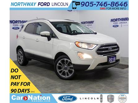 2018 Ford EcoSport Titanium | AWD | NAV | HTD LEATHER | SUNROOF | (Stk: DR594) in Brantford - Image 1 of 38