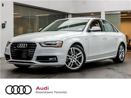 2016 Audi A4 2.0T Technik plus (Stk: P3556) in Toronto - Image 1 of 28