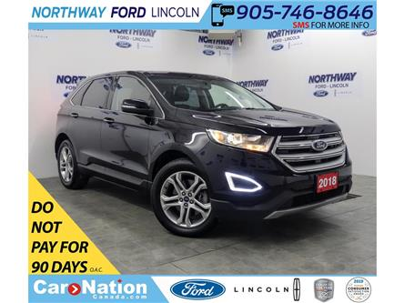 2018 Ford Edge Titanium | AWD | PWR HTD LEATHER | PUSH START | (Stk: DR555) in Brantford - Image 1 of 41