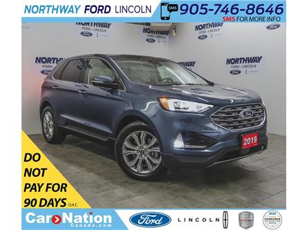 2019 Ford Edge Titanium  | AWD | NAV | PWR LEATHER | PANOROOF (Stk: EG90741A) in Brantford - Image 1 of 43