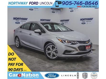 2018 Chevrolet Cruze Premier | LEATHER | HTD SEATS+WHEEL | PUSH START | (Stk: DR646) in Brantford - Image 1 of 35