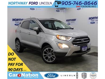 2018 Ford EcoSport Titanium | AWD | NAV | HTD LEATHER | SUNROOF | (Stk: DR562) in Brantford - Image 1 of 39