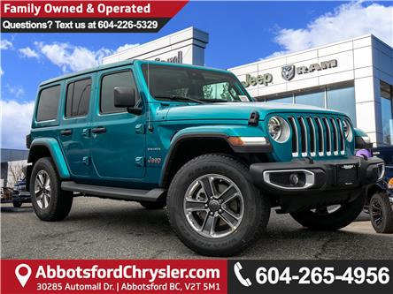 2020 Jeep Wrangler Unlimited Sahara (Stk: L162395) in Abbotsford - Image 1 of 24