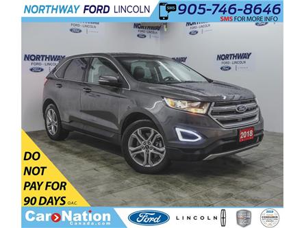 2018 Ford Edge Titanium | AWD | PWR HTD LEATHER | PUSH START | (Stk: DR708) in Brantford - Image 1 of 39