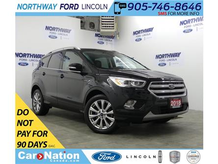 2018 Ford Escape Titanium | AWD | NAV | HTD LEATHER | PANOROOF | (Stk: DR704) in Brantford - Image 1 of 37