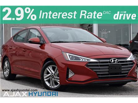 2020 Hyundai Elantra Preferred w/Sun & Safety Package (Stk: P4877R) in Ajax - Image 1 of 31