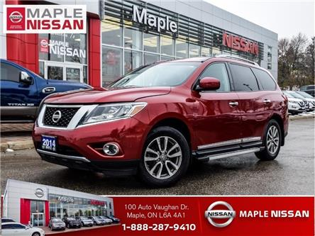 2014 Nissan Pathfinder SL 4x4|Navi|Leather|Alloys|Heated Seats (Stk: M19P038A) in Maple - Image 1 of 26
