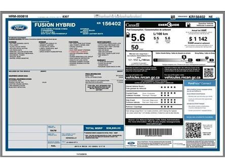 2019 Ford Fusion Hybrid Titanium (Stk: V6402R) in Chatham - Image 2 of 15
