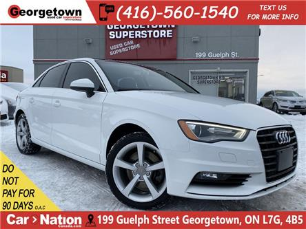 2016 Audi A3 1.8T KOMFORT | LEATHER | SUNROOF | HEATED SEATS (Stk: P12837) in Georgetown - Image 1 of 28