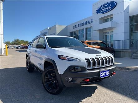 2018 Jeep Cherokee Trailhawk (Stk: T9711A) in St. Thomas - Image 1 of 30