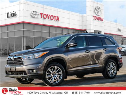 2016 Toyota Highlander XLE (Stk: D192335A) in Mississauga - Image 1 of 26