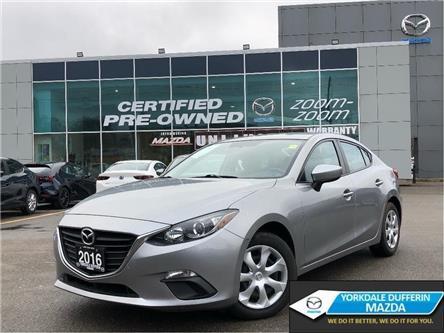 2016 Mazda Mazda3 GX at REAR CAMERA,BLUETOOTH,CRUISE CONTROL,NO ACCI (Stk: P20013) in Toronto - Image 1 of 21