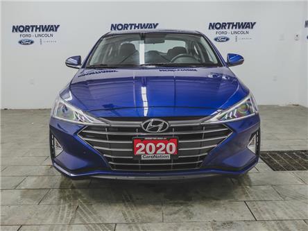 2020 Hyundai Elantra Preferred   HTD SEATS+WHEEL   BACKUP CAM   USB+AUX (Stk: KMHD84) in Brantford - Image 2 of 34