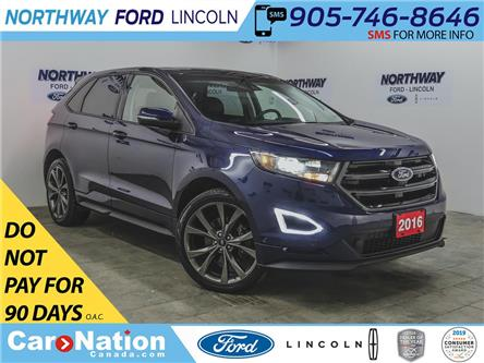 2016 Ford Edge Sport | AWD | NAV | PWR HTD LEATHER | PANOROOF | (Stk: P5298) in Brantford - Image 1 of 44