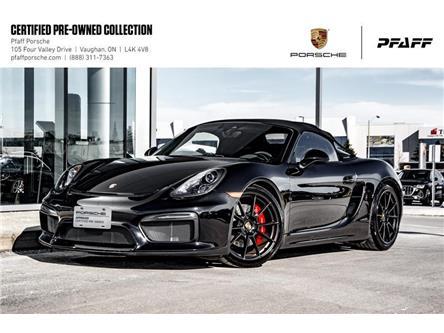 2016 Porsche Boxster Spyder (Stk: U8519) in Vaughan - Image 1 of 22