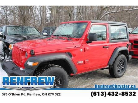 2019 Jeep Wrangler Sport (Stk: K416) in Renfrew - Image 1 of 27