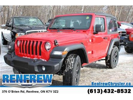 2019 Jeep Wrangler Sport (Stk: K421) in Renfrew - Image 1 of 30