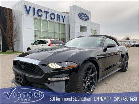 2020 Ford Mustang EcoBoost Premium (Stk: VMU19245) in Chatham - Image 1 of 10