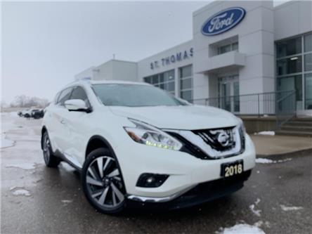 2018 Nissan Murano Platinum (Stk: S0136A) in St. Thomas - Image 1 of 30