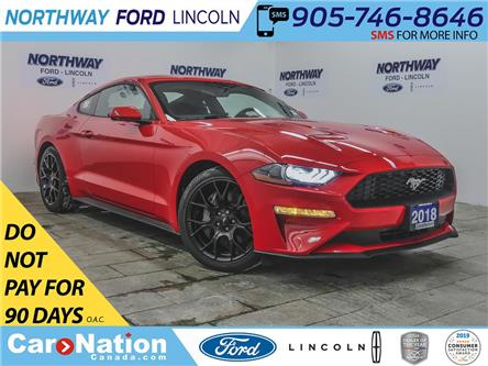 2018 Ford Mustang ECOBOOST | NAV | PUSH START | PERFORMANCE PKG | (Stk: MU88875) in Brantford - Image 1 of 35