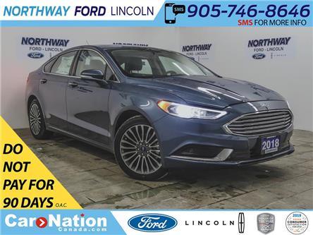 2018 Ford Fusion SE | NAV | HTD LEATHER | PUSH START | REMOTE START (Stk: FU88960) in Brantford - Image 1 of 39