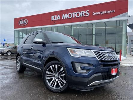 2016 Ford Explorer Platinum | PANO ROOF | NAVI | AWD | LEATHER |7PASS (Stk: P13105) in Georgetown - Image 2 of 39