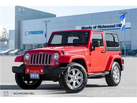 2016 Jeep Wrangler Sahara (Stk: 19-765DTA) in Richmond Hill - Image 1 of 18