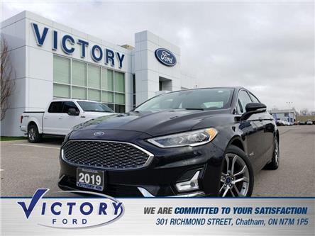 2019 Ford Fusion Hybrid Titanium (Stk: V5593R) in Chatham - Image 1 of 20