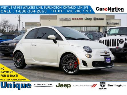 2019 Fiat 500 ABARTH| NERO & ROSSO LEATHER| NAV| SUNROOF| BEATS (Stk: L342A) in Burlington - Image 1 of 49