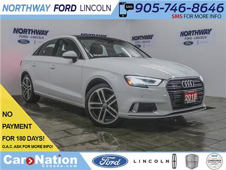2018 Audi A3 Technik | AWD | NAV | HTD LEATHER | SUNROOF | 2.0T (Stk: P5318) in Brantford - Image 1 of 39