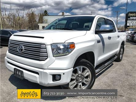 2016 Toyota Tundra Platinum 5.7L V8 (Stk: 503782) in Ottawa - Image 1 of 26