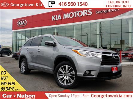 2016 Toyota Highlander XLE AWD | LEATHER | NAVI | ROOF | 7 PASS | BU CAM (Stk: P13316) in Georgetown - Image 1 of 47