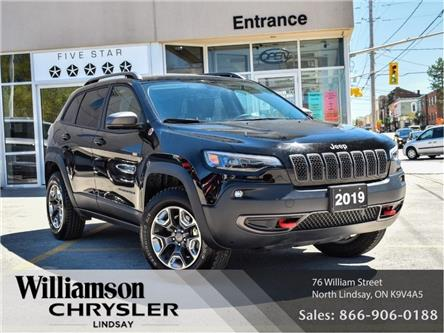 2019 Jeep Cherokee Trailhawk (Stk: U1010) in Lindsay - Image 1 of 28