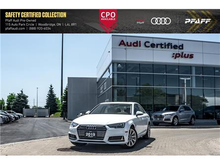 2019 Audi A4 45 Komfort (Stk: C7592) in Woodbridge - Image 1 of 21
