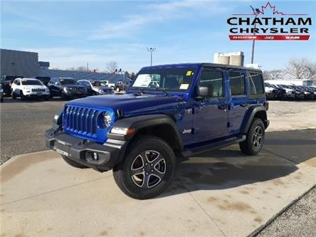 2020 Jeep Wrangler Unlimited Sport (Stk: N04321) in Chatham - Image 1 of 11