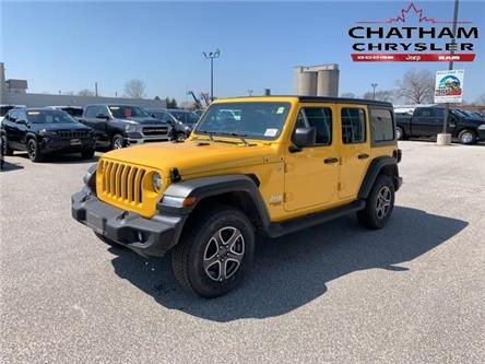 2020 Jeep Wrangler Unlimited Sport (Stk: N04522) in Chatham - Image 1 of 13