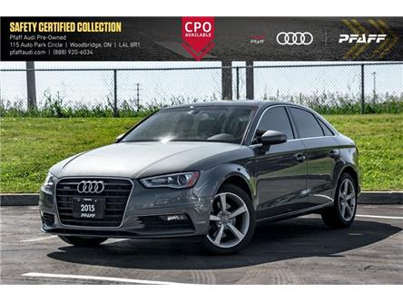 2015 Audi A3 2.0T Komfort (Stk: C7634) in Woodbridge - Image 1 of 20