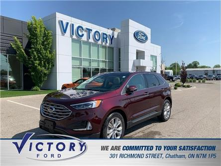 2019 Ford Edge Titanium (Stk: V10385CAP) in Chatham - Image 1 of 20